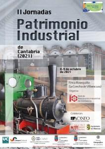 cartel II JORNADAS PATRIMONIO INDUSTRIAL DE CANTABRIA OCT 2021