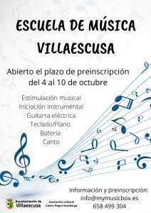 CARTEL ESCUELA MUSICA VILLAESCUSA 2021 2022