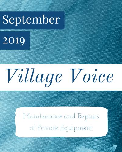 Village Voice: September 2019