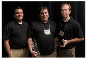 I-3 Technology Start-Up Competition provincial award winner Tether. L - R: Patrick Hankinson, Stephen Hankinson, Tim Burke