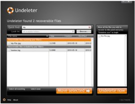 Undeleter Screenshot