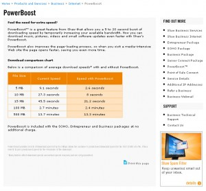Shaw PowerBoost Page