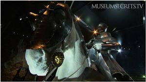 A display of armour at the Metropolitan Museum of Art