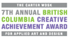 7th annual Carter Wosk BC Creative Achievement Awards for Applied Art and Design