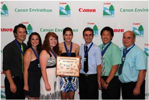 Canon Envirothon 2011 winners from Swan Valley Regional Secondary School (Photo: Canon Canada Inc.)