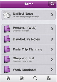 Microsoft OneNote Mobile for iPhone 1.2