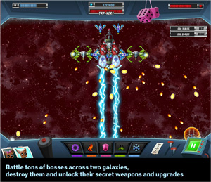 a space shooter for free boss fight