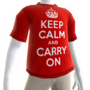 Keep Calm and Carry On Avatar shirt
