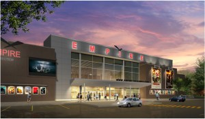 A rendition of the exterior design of the new Empire Theatres St. John's theatre complex, courtesy of Empire Theatres