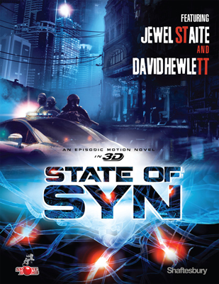 Shaftesbury and Smokebomb Entertainment's new original science fiction digital project, STATE OF SYN, stars Jewel Staite and David Hewlett.
