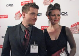 The voice of Adam Jensen, Elias Toufexis and his lovely wife Michelle Boback, the voice of Megan Reed
