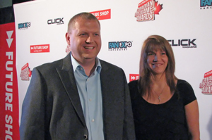 Sean Wilson - VP of Entertainment, Future Shop & his lovely wife Cassandra