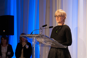 Telefilm Canada's Carolle Brabant receives Leadership Excellence award from Canadian Women In Communications (photo: TELEFILM CANADA)