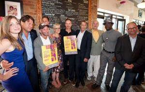 Anna Hopkins, Robert Lantos (Serendipity Point Films), Michael Konyves, Ari Lantos, Carolle Brabant (Telefilm Canada), Richard J. Lewis, Michel Pradier (Telefilm Canada), Howard Jerome, Clé Bennett and Bryan Gliserman (Entertainment One). (Image: TELEFILM CANADA)
