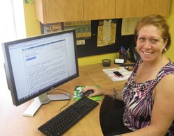 VP of Operations, Samantha Russell, shows off Scribendi.com's new e-book publishing services.