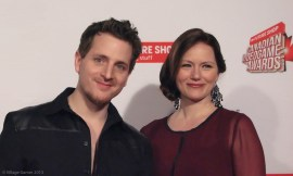 Elias with his wife Michelle at the 2013 CVAs