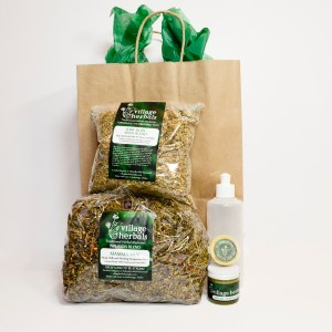 village herbals postpartum gift bag 1