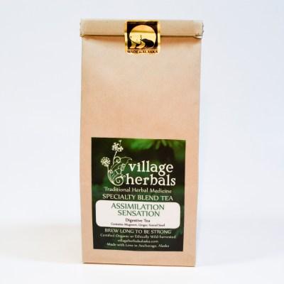 village herbals loose leaf tea assimilation sensation