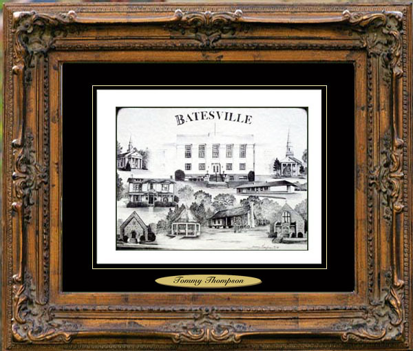 Pencil Drawing of Batesville, AR