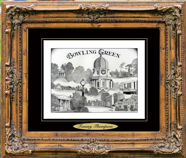 Pencil Drawing of Bowling Green, KY