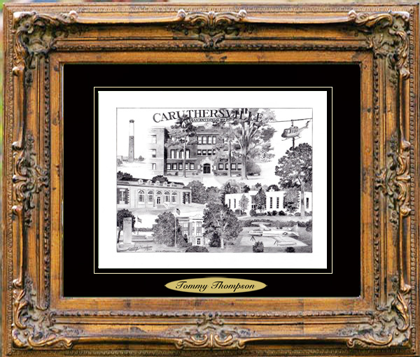 Pencil Drawing of Caruthersville, MO Two
