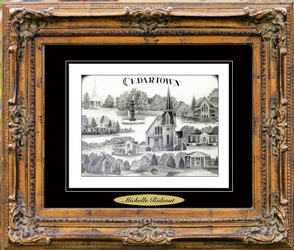 Pencil Drawing of Cedartown, GA
