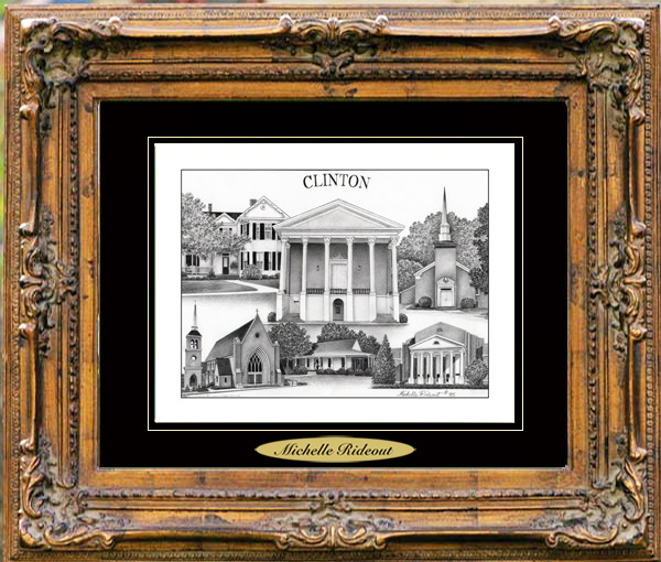 Pencil Drawing of Clinton, MS