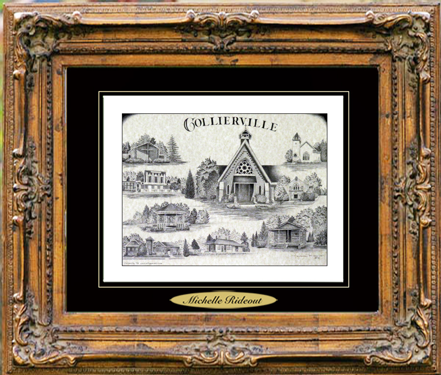Pencil Drawing of Collierville, TN