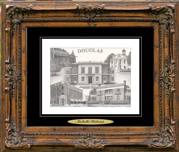 Pencil Drawing of Douglas, GA