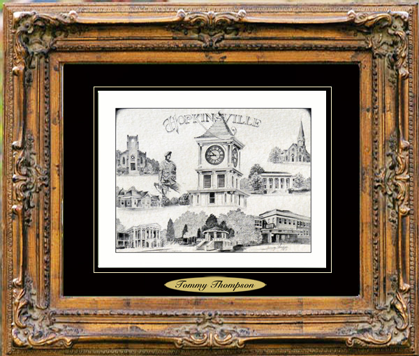 Pencil Drawing of Hopkinsville, KY
