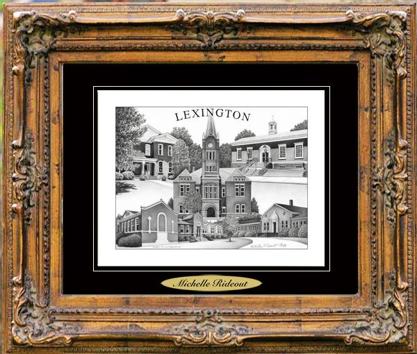 Pencil Drawing of Lexington, TN