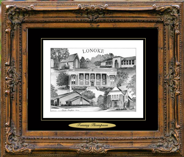 Pencil Drawing of Lonoke, AR