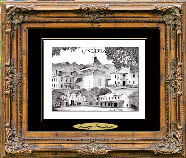 Pencil Drawing of Lynchburg, TN