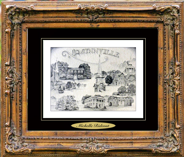 Pencil Drawing of McMinnville, TN