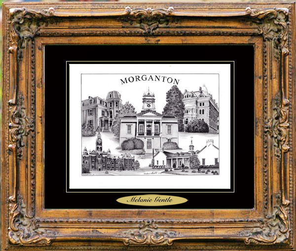 Pencil Drawing of Morganton, NC