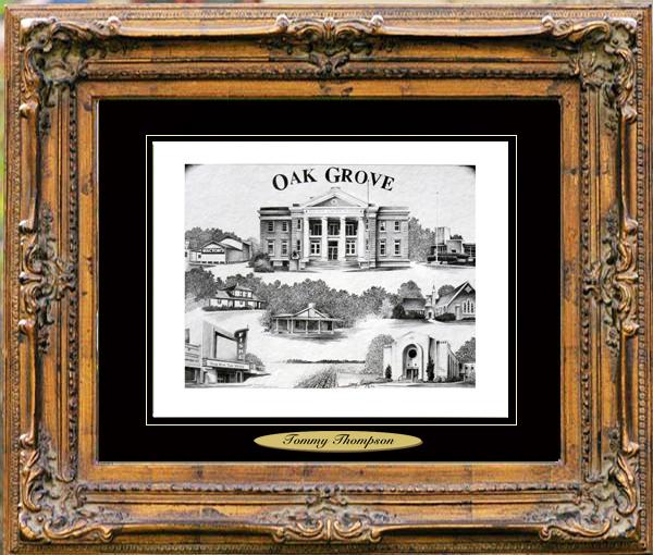 Pencil Drawing of Oak Grove, LA