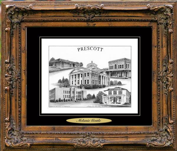 Pencil Drawing of Prescott, AR