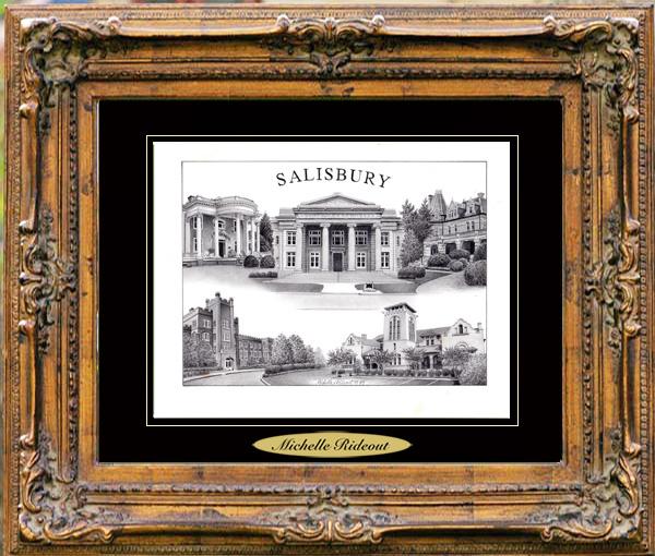 Pencil Drawing of Salisbury, NC