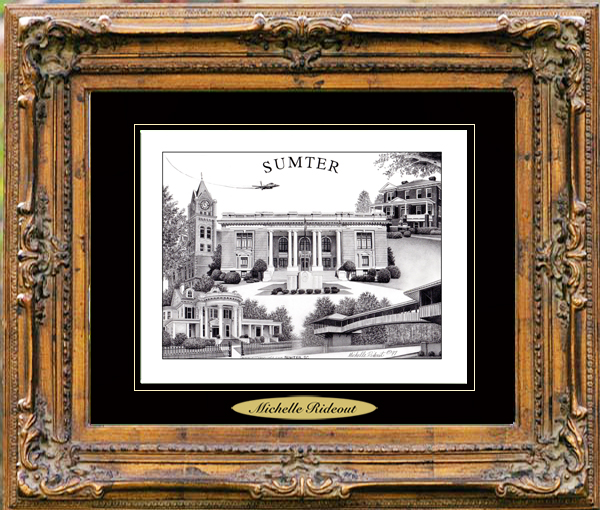 Pencil Drawing of Sumter, SC