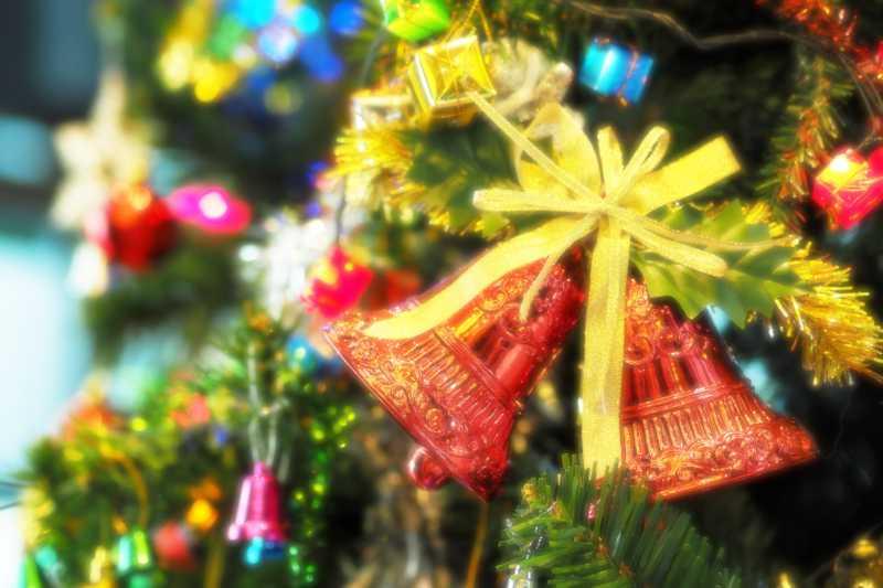 dettaglio di un albero di Natale