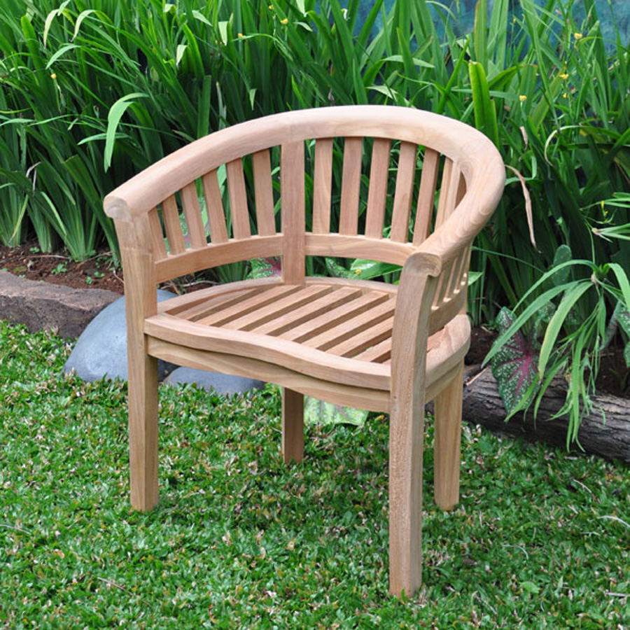 Teak Banana Round Back Armchair - Villa and Hut