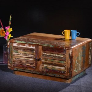 Reclaimed Retro Shutter Cabinet Coffee Table