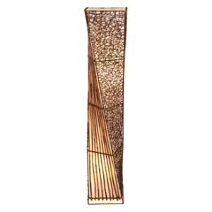 Thai Rectangular Waisted 1.5M Floor Lamp