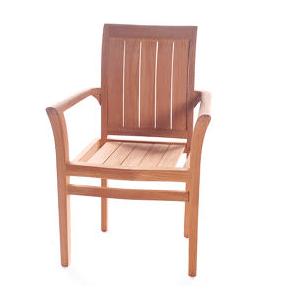Teak Earl Stacking Chair