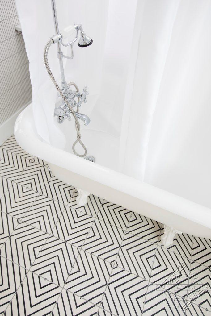 white cement tile