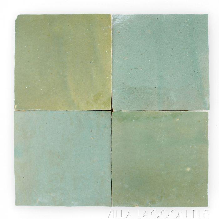 square glazed zellige in garden grove