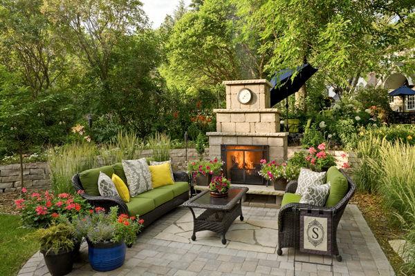 patios cooking areas villa landscapes