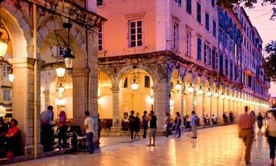 The nightlife in Corfu