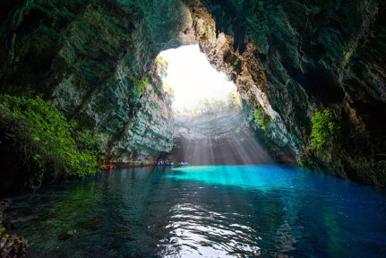 The lake in Melissani cave - Kefalonia