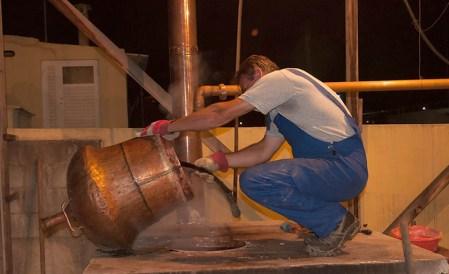 Raki cauldron in Crete